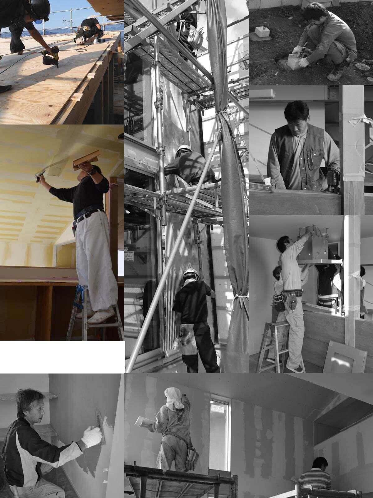 登戸Y邸、大工工事