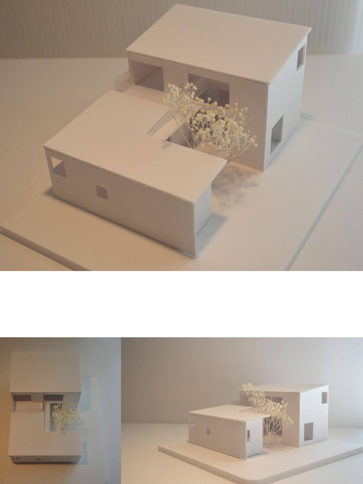 つくばH邸の模型写真