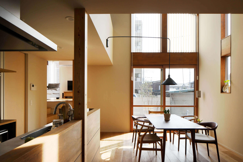 登戸Y邸の内装、ダイニング・キッチン