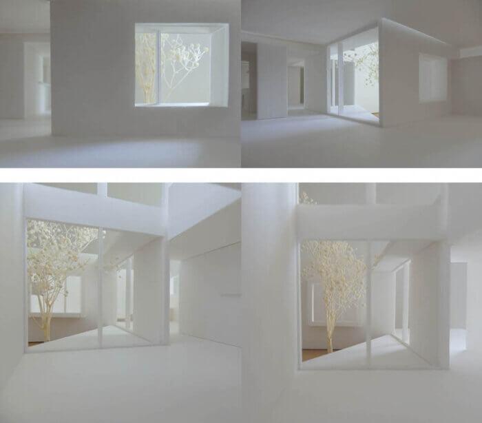 つくばH邸の内観模型