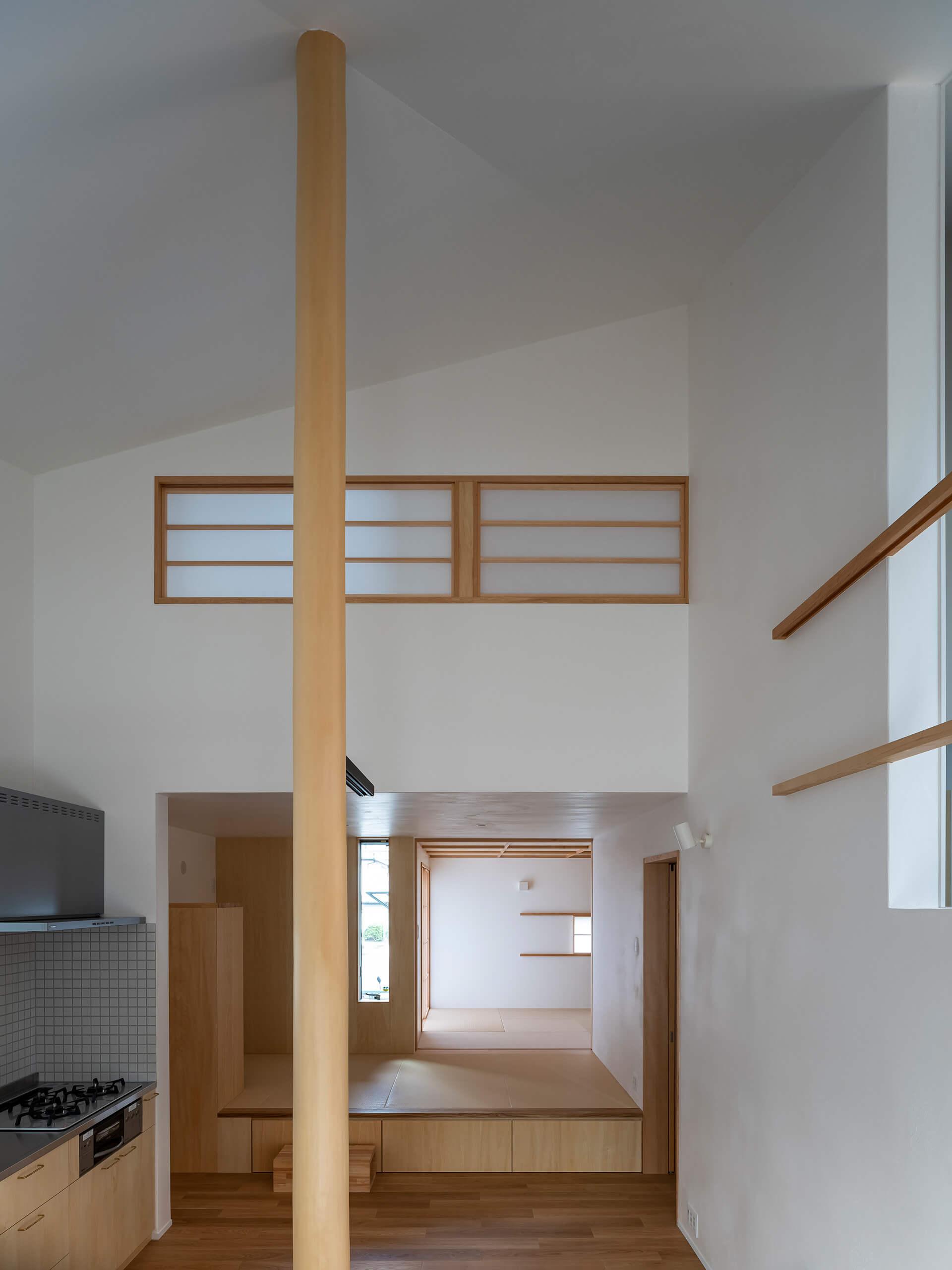 浦和S邸 折れ天井と障子