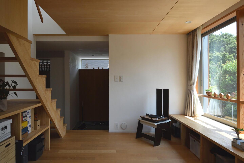 狛江S邸 小上がりから玄関ホール